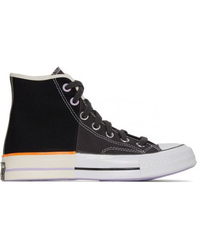Ażurowy biały wysoki sneakersy na pięcie zasznurować Converse