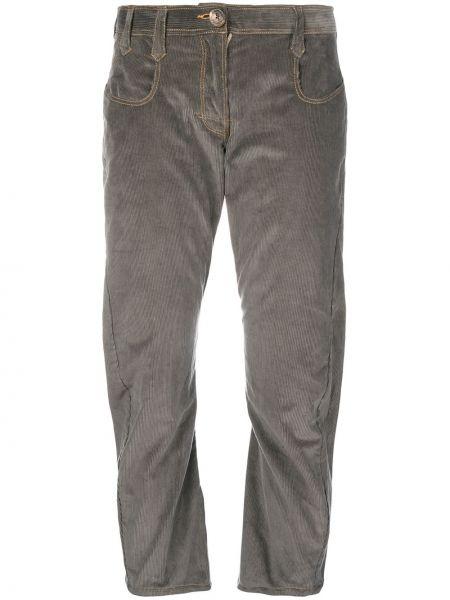 Брючные серые брюки вельветовые Atelier Bâba