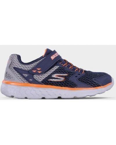Текстильные брендовые кроссовки Skechers