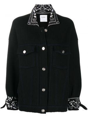 С рукавами черная куртка оверсайз Barrie