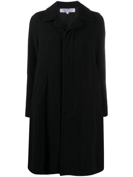 Шерстяное черное пальто классическое для полных Comme Des Garçons Comme Des Garçons