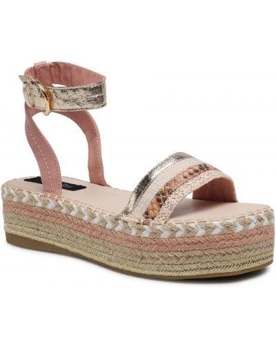 Sandały espadryle - różowe Deezee