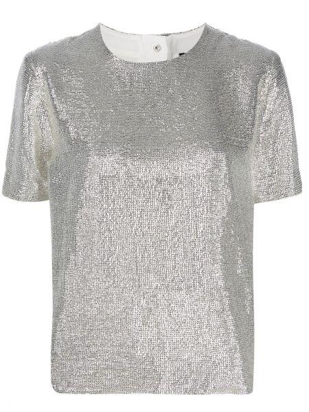 Z rękawami srebro koszula z wiskozy Rag & Bone