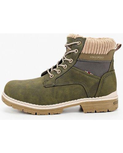 Зеленые кожаные ботинки Lolli L Polli