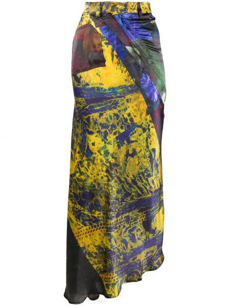 С завышенной талией асимметричная юбка на молнии с карманами Ottolinger