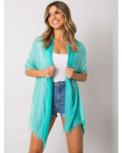Szalik bawełniany - turkusowy Fashionhunters