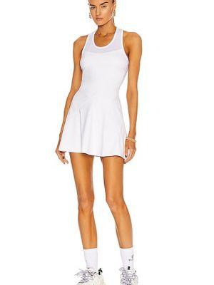 Biała sukienka z siateczką z nylonu Alala