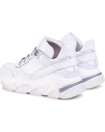 Białe sneakersy Eva Longoria