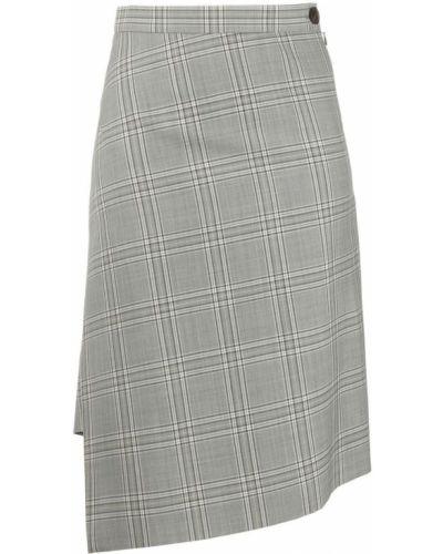 Серая шерстяная с завышенной талией юбка миди Vivienne Westwood