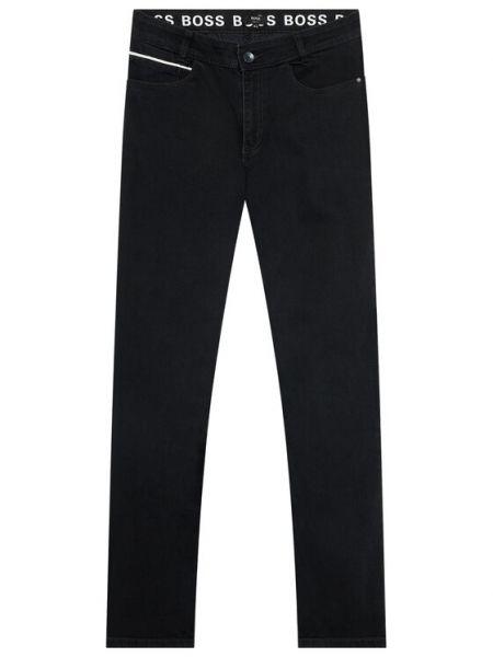 Czarne mom jeans Boss