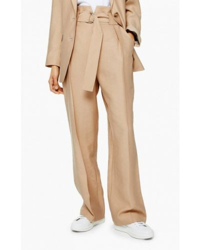 Классические брюки бежевый Topshop