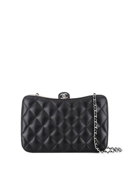 Кожаная черная стеганая кожаная сумка Chanel Pre-owned