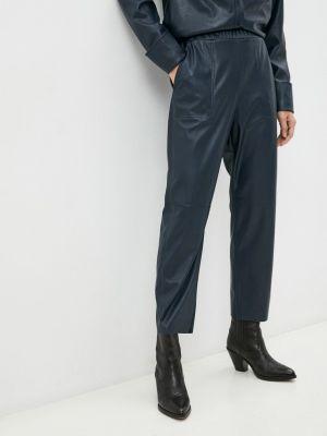 Кожаные брюки - синие Max&co