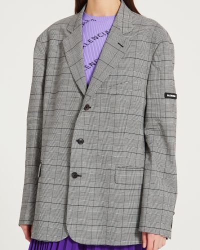 Пиджак в клетку на пуговицах Balenciaga