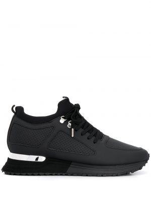 Черные кроссовки с перфорацией на платформе Mallet Footwear