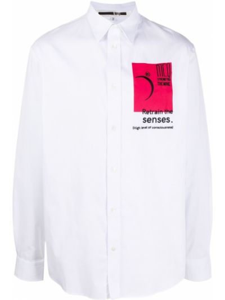 Biała koszula bawełniana z długimi rękawami Mcq Alexander Mcqueen