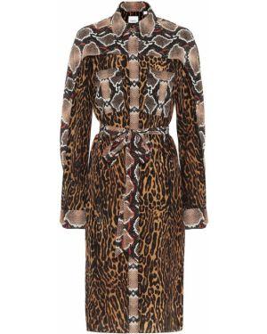 Горчичное платье Burberry