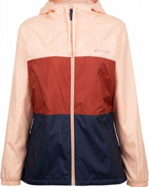 Приталенная теплая коричневая куртка с капюшоном на молнии Columbia