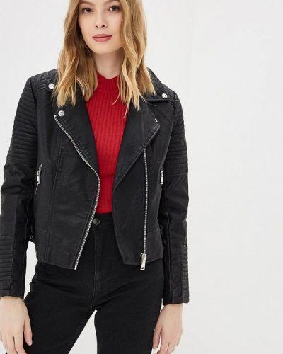 Кожаная куртка черная весенняя Jennyfer