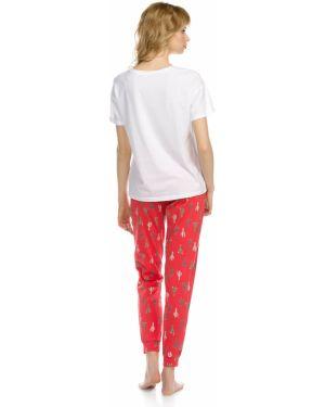 С рукавами зауженная пижамная пижама с брюками с манжетами Pelican