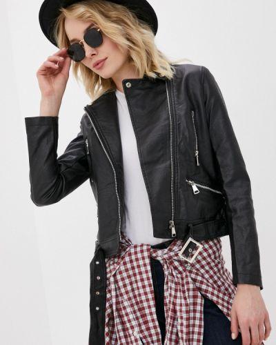 Черная кожаная куртка Macleria