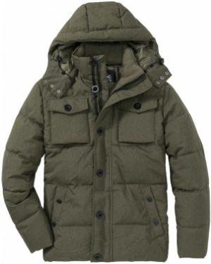 Оливковая стеганая куртка Bonprix