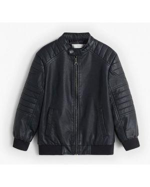 Куртка черная кожаная Mango Kids