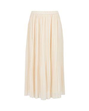 Бежевая плиссированная юбка Peserico