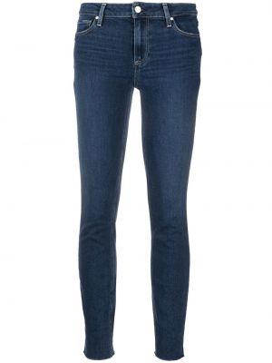Облегающие синие джинсы-скинни на молнии Paige