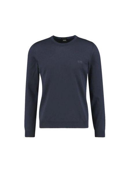 Sweter wełniany z długimi rękawami Hugo Boss