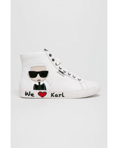 Кожаные кроссовки текстильные городские Karl Lagerfeld