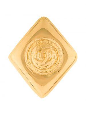 Broszka pozłacany z diamentem Chanel Pre-owned