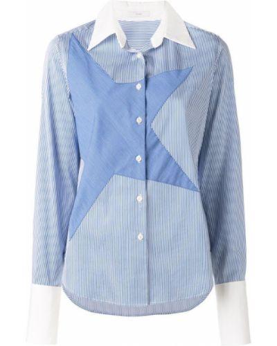 Синяя рубашка на пуговицах Tome