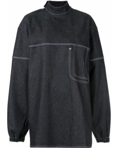 Синяя прямая джинсовая рубашка Lærke Andersen