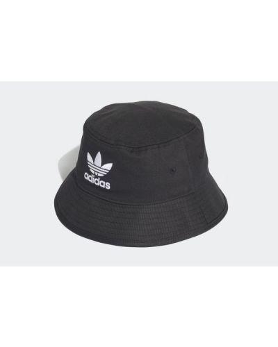 Czarny kapelusz bawełniany Adidas