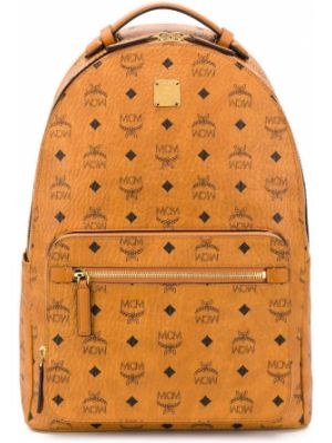 Кожаный рюкзак - коричневый Mcm