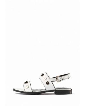 Кожаные сандалии - белые Stefano Lompas