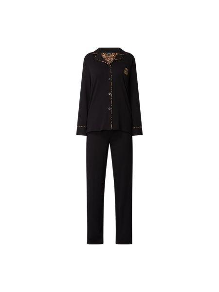 Bawełna piżama bawełna czarny spodni piżama Lauren Ralph Lauren