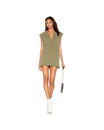 Платье мини сафари с карманами One Teaspoon