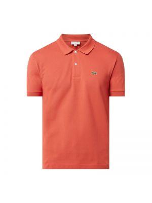 Klasyczny różowy t-shirt bawełniany Lacoste