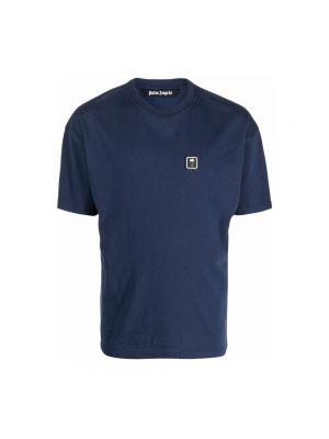 T-shirt bawełniana - niebieska Palm Angels