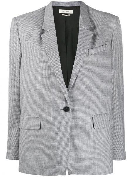 Черный пиджак оверсайз с карманами Isabel Marant étoile