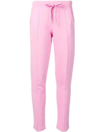 Розовые спортивные брюки с воротником с поясом Roqa