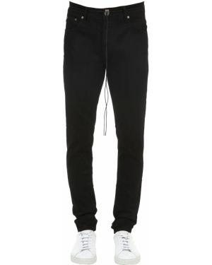 Czarne jeansy skorzane z paskiem Other