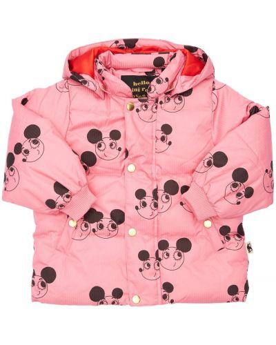 Дутая куртка - розовая Mini Rodini