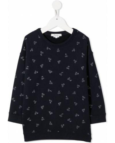 Bawełna bawełna czarny z rękawami bluza Bonpoint