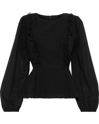 Шифоновая черная блузка на пуговицах Mikael Aghal