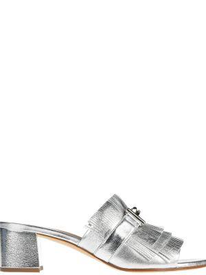 Мюли из серебра серебряный Tod's