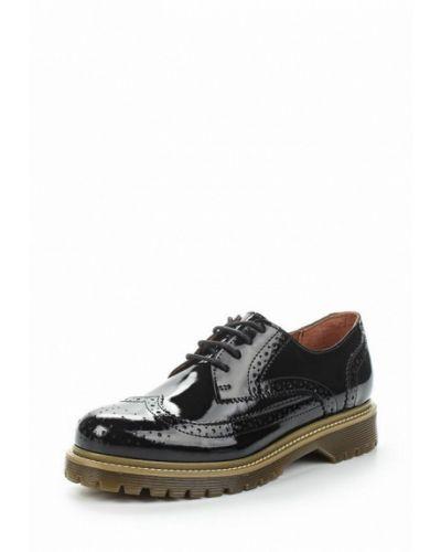 Черные кожаные ботинки Bronx