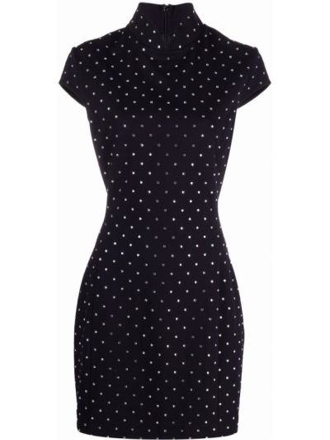 Платье мини короткое - черное Amina Muaddi